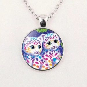 💕💜💓Lisa Frank style necklace